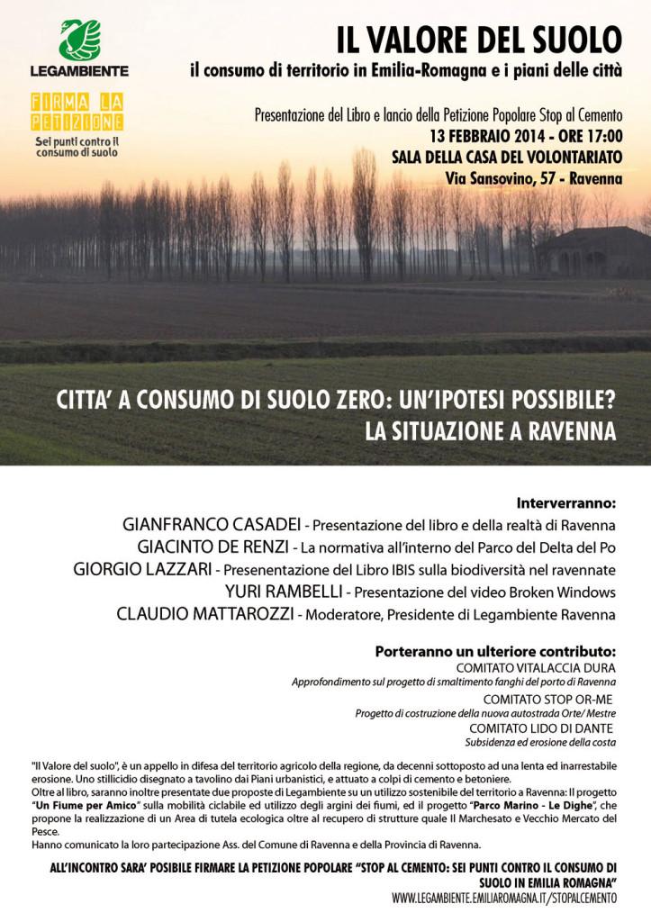 il valore del suolo volantino Ravenna