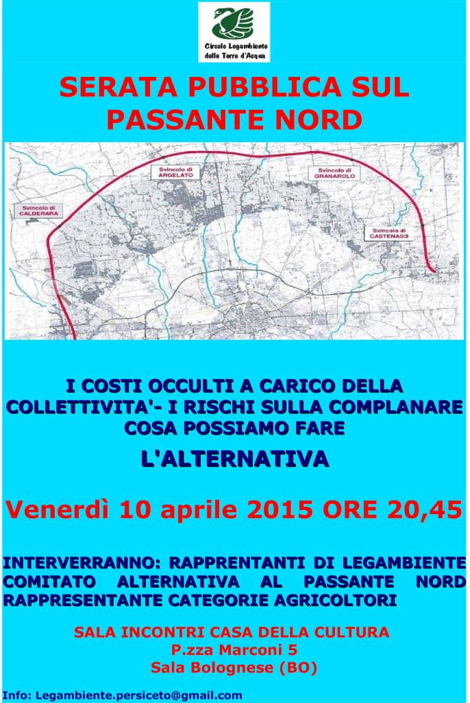 VOLANTINO Sala Bolognese del 10-4-15