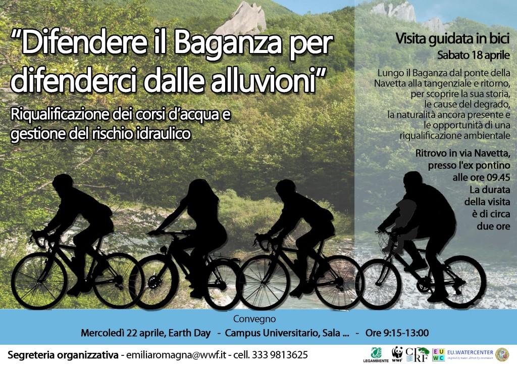 Volantino Biciclettata Baganza