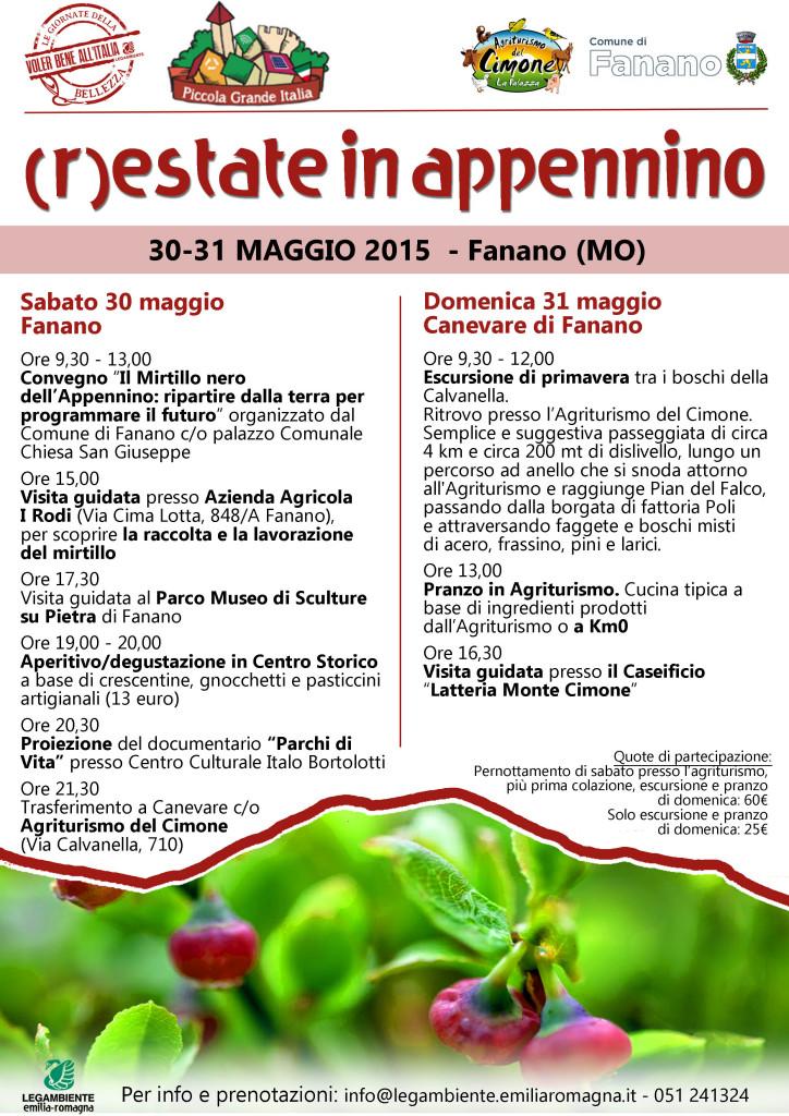 Programma Voler bene all'Italia Fanano
