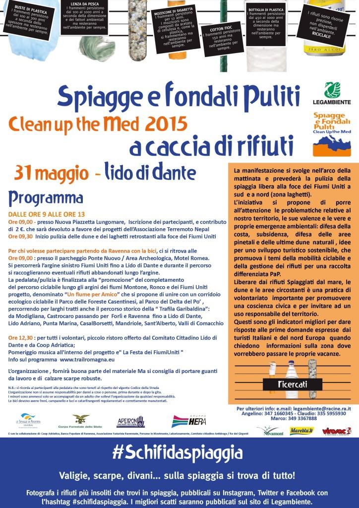 Volantino Spiagge Pulite 2015