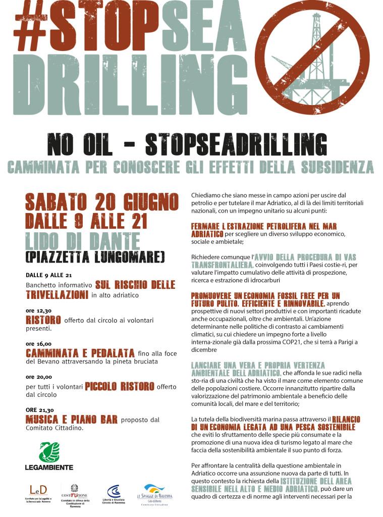 No Trivelle in Adriatico_programma 20 giugno _Emilia Romagna