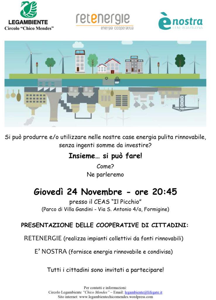 Volantino serata Retenergie 24.10.16